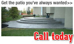 Get the patio you've always wanted>> Call today, new concrete patio