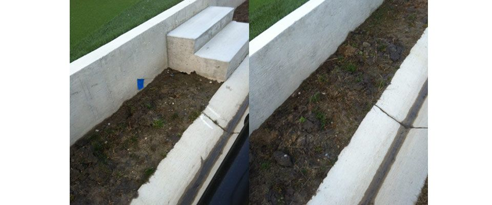 cement steps and curb